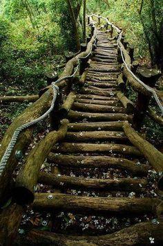 Escaleras rústicas