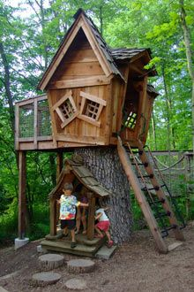 Metro Parks - Central Ohio Park System - Feature Gardens of Inniswood- We spent MANY warm days here- Riley LOVED this treehouse in the childrens garden