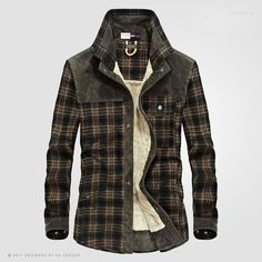 Looking for Flygo Men's Casual Long Sleeve Fleece Sherpa Lined Flannel Plaid Shirt Jacket ? Check out our picks for the Flygo Men's Casual Long Sleeve Fleece Sherpa Lined Flannel Plaid Shirt Jacket from the popular stores - all in one. Casual Shirts For Men, Men Casual, Men Shirts, Shirt Men, Flannel Shirts, Casual Winter, Mens Winter Shirts, Sweatshirt Homme, Men's Clothing