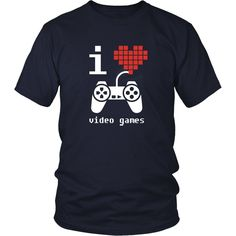 If you are a proud gamer & video games fan then I Love Video Games tee or hoodie is for you. Custom Gaming inspired T-Shirts & Apparel by TeeLime. If you want different color, style or have an idea fo