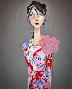 """marcjacobs: """" Marc Jacobs Spring '16 illustrated by Vin Servillon """""""