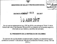 Decreto 613 del 10 de Abril del 2017 - en relación con el acceso seguro e informado al uso m&