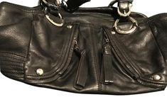 1d4548e0caf1 B. Makowsky Black Lambskin Leather Weekend Travel Bag 72% off retail