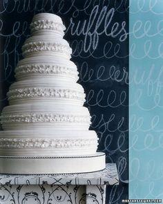 Modern Wedding Cakes  Ruffled Wedding Cake