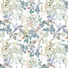 by arbelogy - floral - leaves Fabric Wallpaper, Pattern Wallpaper, Wallpaper Backgrounds, Wallpapers, Flower Wallpaper, Pretty Patterns, Flower Patterns, Color Patterns, Pattern Paper