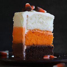 12 Boo-tiful Halloween Cakes That Will Make You Scream -- Candy Corn Cake
