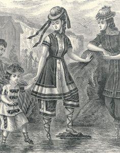 * 1876 Women and children in typical late-19th century (Harper's Bazaar)