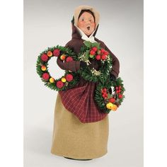 Byers' Choice Carolers Woman Selling Evergreens