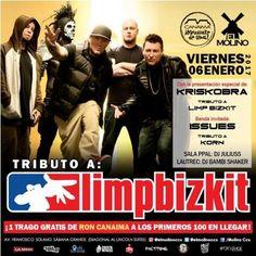 """El Molino presenta: """"Tributo a Limp Bizkit y Korn"""" http://crestametalica.com/el-molino-presenta-tributo-a-limp-bizkit-y-korn/ vía @crestametalica"""