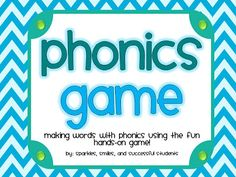 Sparkles, Smiles, and Successful Students: FREE phonics game with cards for multiple uses!