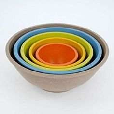 Bamboo Nesting Mixing Bowls -Set of 5 ... (This is an affiliate link) #mixingbowls