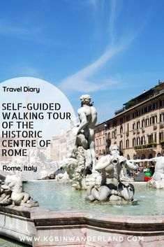 Rome Italy's Must-see attractions --- Self-guided walking tour of Vatican City and Rome's Historic Centre Italy Travel Tips, Rome Travel, Travel Europe, Rome City Centre, Best Of Rome, Europe Destinations, Walking Tour, European Travel, Rome Pantheon