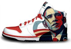 Obama would be the only president to have his face on the side of a Nike shoe...