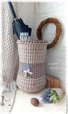 Вазы ручной работы. Ярмарка Мастеров - ручная работа. Купить Корзина плетеная   'Как тихо падал дождь...'. Handmade.