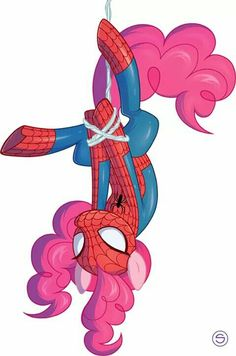 Pinkypie as spiderman