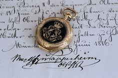 King Ludwig II of Bavaria's gold pocket watch, stopped at 6:53: