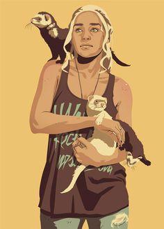 Daenerys Targaryen (Khaleesi) Pop Art by Mike Wrobel.