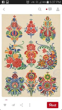 Folk Embroidery Patterns pixels - Our friends at The Silk Bureau have a great discount offer available to all our Patternbank customers. With competitive rates it's never been easier to Hungarian Embroidery, Folk Embroidery, Embroidery Patterns, Indian Embroidery, Embroidery Stitches, Floral Embroidery, Art Populaire Russe, Textures Patterns, Print Patterns