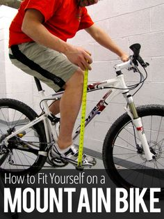 How to Fit Yourself on a Mountain Bike Like a PRO http://www.singletracks.com/blog/mtb-training/how-to-fit-yourself-on-a-mountain-bike-like-a-pro/