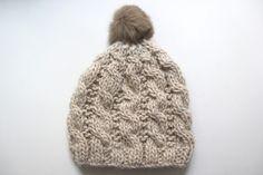 Tutorial de lana  Como hacer gorro trenzado ochos (patrones gratis) Gorros  De Lana f4e7b0e7927