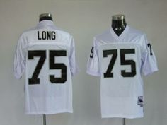 Mitchell and Ness Oakland Raiders Howie Long 75 Stitched White NFL Jersey:$21
