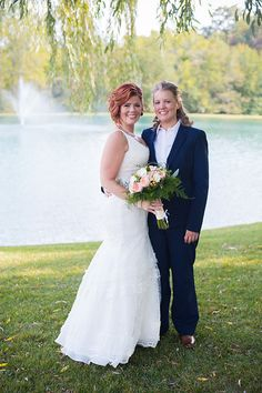 Photo from Sandy + Heather | Married collection by Photography by Brea same sex wedding, lesbian weddings, love is love, women in suits, maryland weddings, barn weddings, rustic same sex wedding