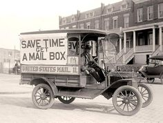 vintage trucks | Old Mail Truck