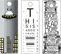 Bookmarks by Dorothy Jeffrey, via Behance Diy Bookmarks, Printable Bookmarks, Broken Book, Little Library, Book Markers, Books For Teens, Lectures, Planner, Printable Coloring
