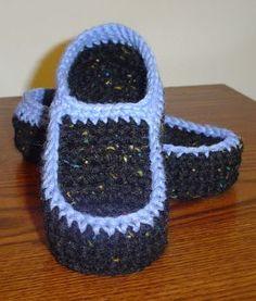 Adult crocheted easy hand pattern slipper