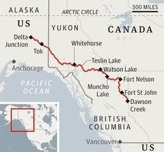 The Alaska Highway: road trip through the wilds fort st john, whitehorse, delta junction, teslin, muncho Alaska Cruise, Alaska Travel, Canada Travel, Alaska Trip, Rv Travel, Travel Maps, Yukon Alaska, Yukon Canada, Alaska Highway