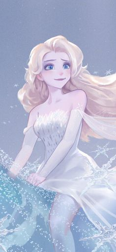 Frozen Anime, Elsa Anime, Disney Princess Snow White, Disney Princess Frozen, Disney Princess Pictures, Cute Girl Hd Wallpaper, Frozen Fan Art, Princess Drawings, Girly Drawings