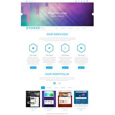 48 best free business html templates images on pinterest html powerful is free responsive bootstrap template this fluid layout is ready for mobile devices and html website flashek Image collections