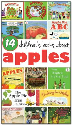 14 books about apples for kids - both fiction and non-fiction selections for kids ages 2-9
