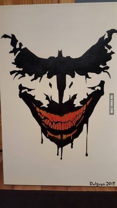 Awesome Batman/Joker painting                                                                                                                                                                                 Más