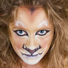 lion facepaint by YourBalloonMan, via Flickr Halloween Make Up, Halloween Costumes, Halloween Face Makeup, Halloween Party, Hunt Costume, Costume Ideas, Lion King Show, Lion Makeup, Great Auk