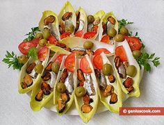 Cool Belgian Endive Appetizer | Romantic Dinner Recipes | Genius cook - Healthy Nutrition, Tasty Food, Simple Recipes photo #Romantic #Dinner #Recipes