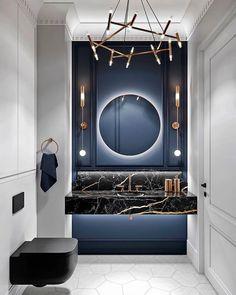 Bathroom Decor Ideas 35 Luxury Bathroom Design And Decor Ideas Capture Red Carpet Looks with Pageant Bad Inspiration, Bathroom Inspiration, Bathroom Ideas, Bathroom Designs, Bathroom Renovations, Art Deco Bathroom, Bathroom Goals, Bathroom Vanities, Bathroom Organization