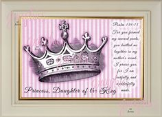 Princess, Daughter of the King with Bible Verse on Etsy, $8.00