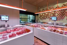 Corella on Behance Butcher Store, Carnicerias Ideas, Meat Box, Catering, Meat Store, Supermarket, Future Shop, Food Retail, Tea Gifts