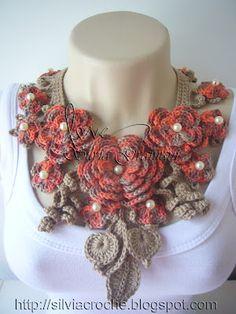 contemporary twist on Irish crochet - good inspiration