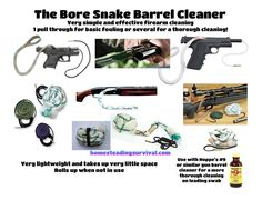 Excellent Gun Barrel Cleaning Tool! More info here: http://homesteadingsurvival.com/excellent-gun-barrel-cleaning-tool/