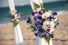 blue orchids mix them with white calla lilies instead of roses. would be perfect Blue Orchid Wedding, Rustic Purple Wedding, Peacock Wedding, Floral Wedding, Church Wedding Ceremony, Wedding Reception Flowers, Blue Orchids, Orchid Flowers, Flower Arrangements
