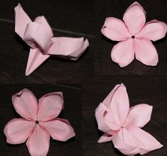 This beautiful red lily DIY origami origami flowers not only look beautiful but also very easy to make up