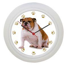nice British Bulldog Wall Clock