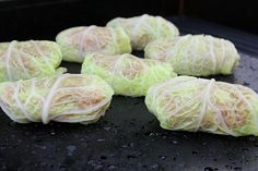 Cabbage rolls on the Island Grillstone
