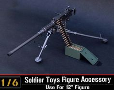 31.49$  Watch here - http://ali188.shopchina.info/go.php?t=32516040890 - 1/6 Scale Model US Army Browning M2 Machine Gun,Cal. .50, M2HB,Flexible Weapon Toys For Action Figure Accesssories 31.49$ #buychinaproducts