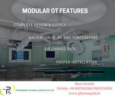 Find the feature of modular operation theatre before choosing it for healthcare sector Contact: +91 8017002189 | 9051322674