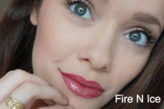 Fire N Ice LipSense topped with Rose Gloss | Senegence International long-lasting Lip color, ShadowSense eyeshadow, MakeSense foundation, BrowSense, BlushSense and MORE!