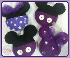 Mickey & minnie mouse felt