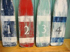 Oar Paddle Sign Numbers Letter Wall Art Nautical by CastawaysHall,